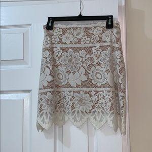 For Love & Lemons- White Lace Skirt- Size M